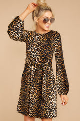 6 Promises Kept Brown Leopard Print Dress at reddressboutique.com