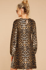 7 Promises Kept Brown Leopard Print Dress at reddressboutique.com