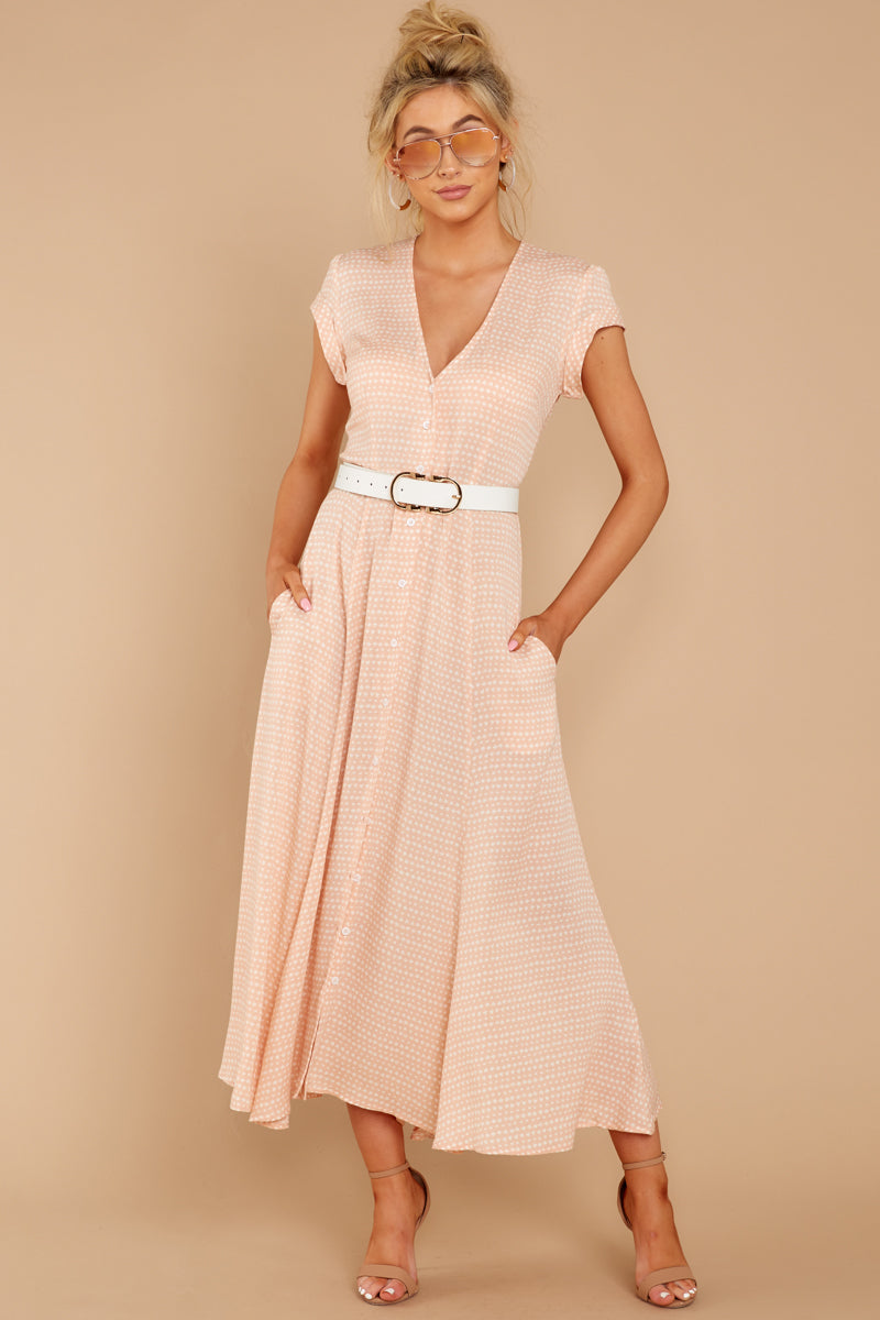 1 Spring In Morocco Blush Pink Print Maxi Dress at reddressboutique.com