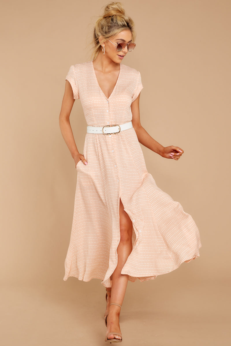 2 Spring In Morocco Blush Pink Print Maxi Dress at reddressboutique.com