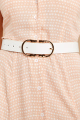 1 Here To There White Belt at reddressboutique.com