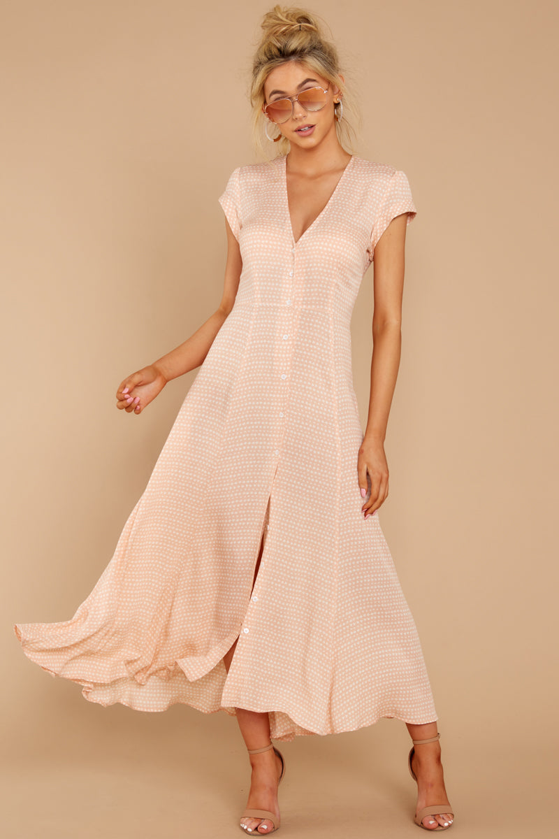 4 Spring In Morocco Blush Pink Print Maxi Dress at reddressboutique.com