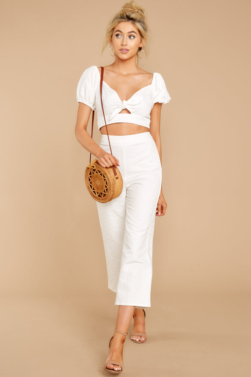 2 Picking Up Vibes White Two Piece Set at reddressboutique.com