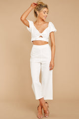 4 Picking Up Vibes White Two Piece Set at reddressboutique.com