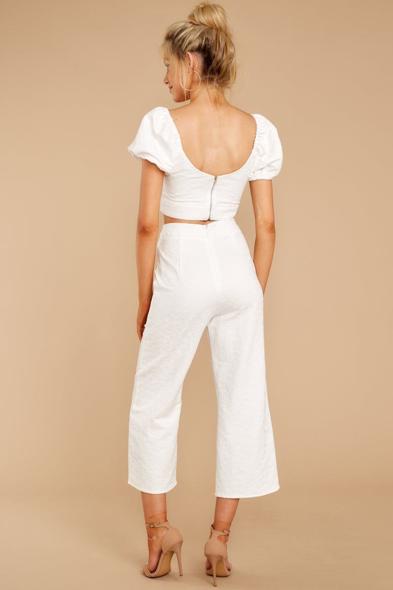6 Picking Up Vibes White Two Piece Set at reddressboutique.com