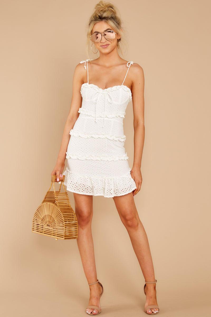 1 Breath Of Fresh Air White Lace Dress at reddressboutique.com
