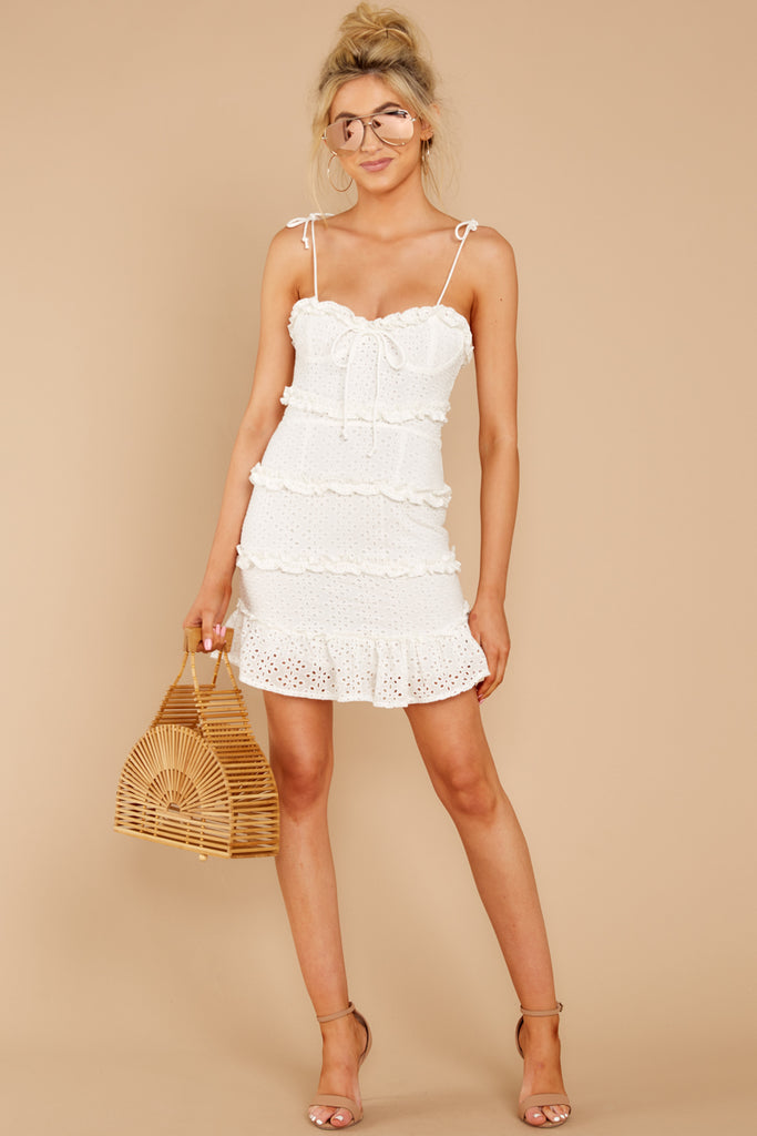 1 Just One Night White Dress at reddressboutique.com