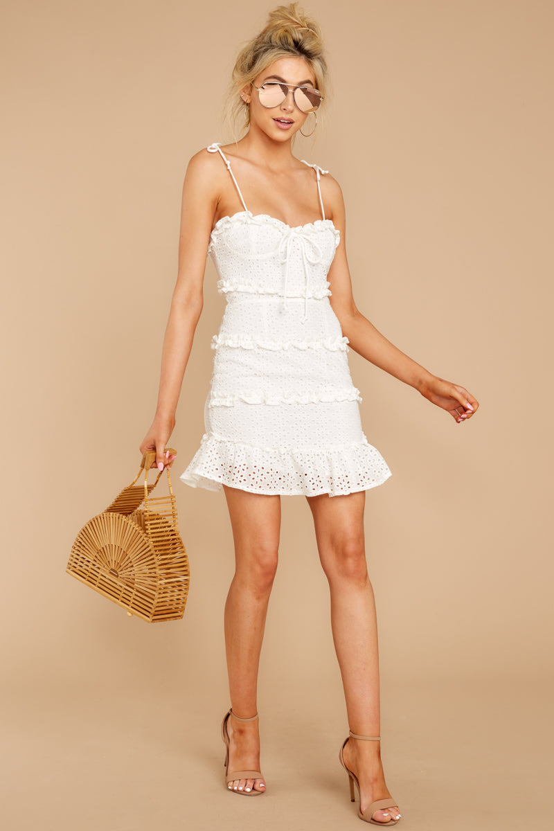 3 Breath Of Fresh Air White Lace Dress at reddressboutique.com