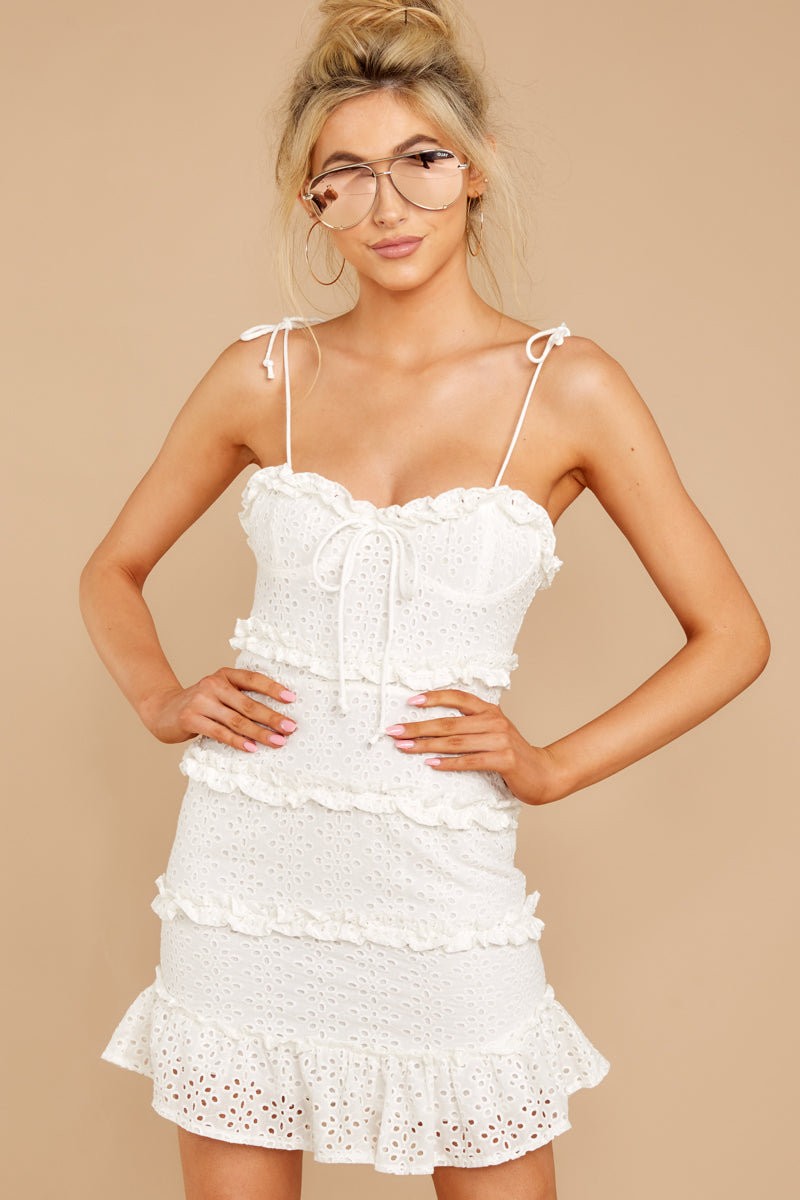 5 Breath Of Fresh Air White Lace Dress at reddressboutique.com