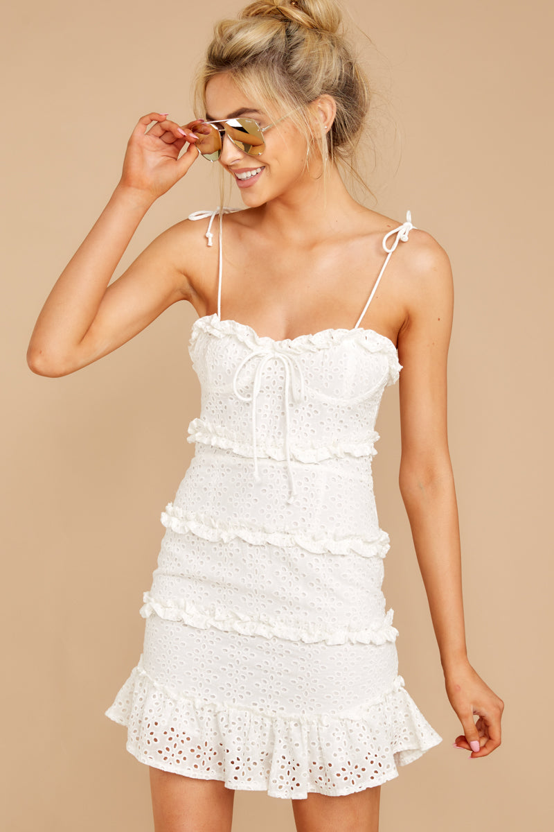 6 Breath Of Fresh Air White Lace Dress at reddressboutique.com