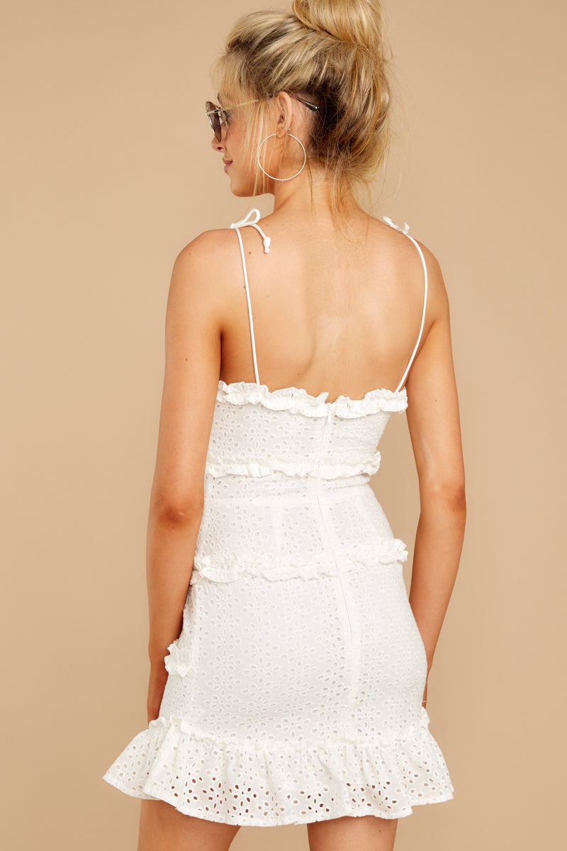 8 Breath Of Fresh Air White Lace Dress at reddressboutique.com