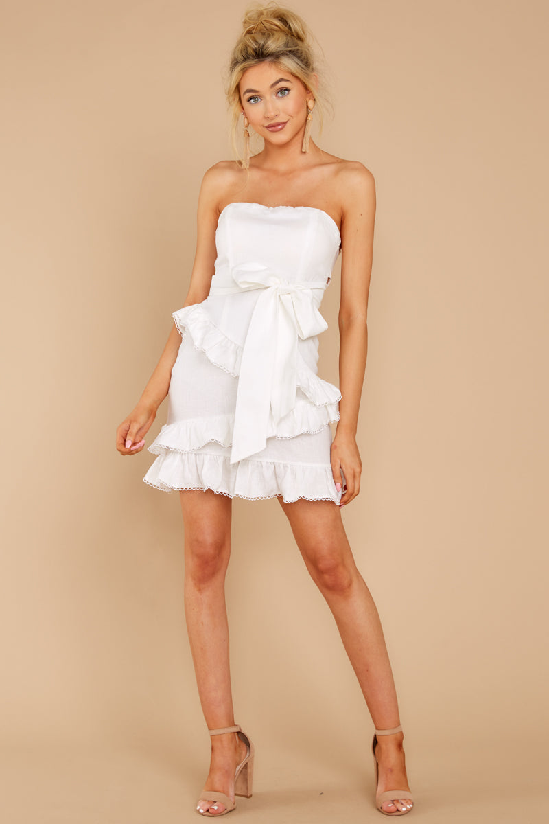 2 All Mine All The Time White Dress at reddressboutique.com