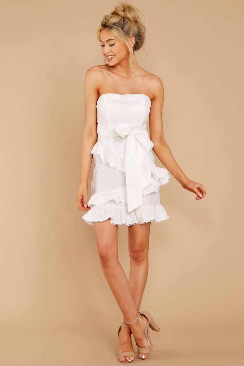 3 All Mine All The Time White Dress at reddressboutique.com