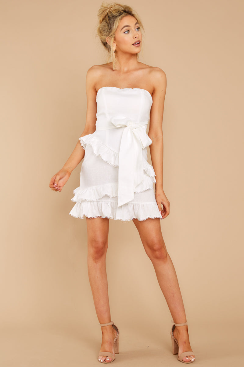 4 All Mine All The Time White Dress at reddressboutique.com