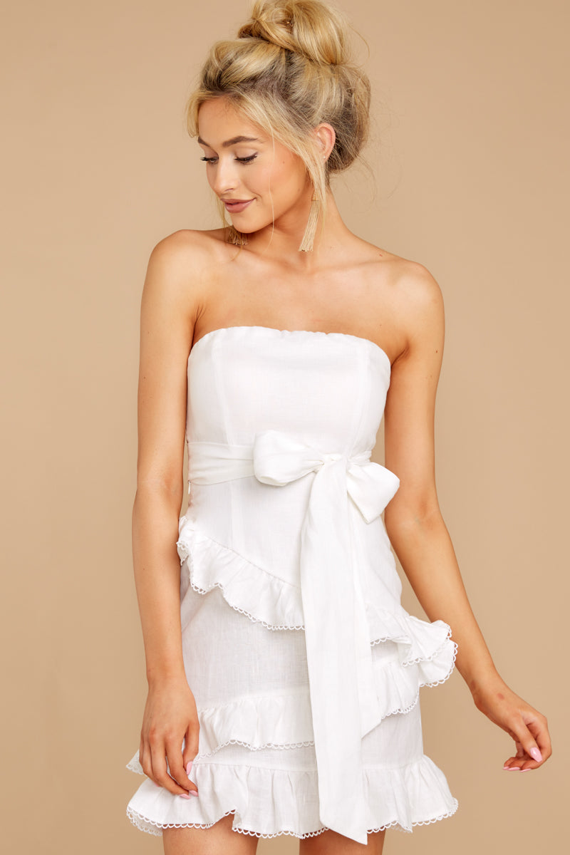 5 All Mine All The Time White Dress at reddressboutique.com