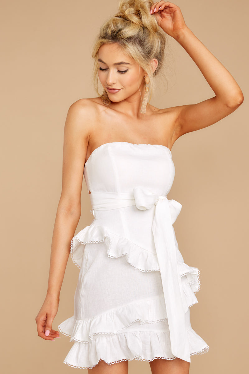 1 All Mine All The Time White Dress at reddressboutique.com