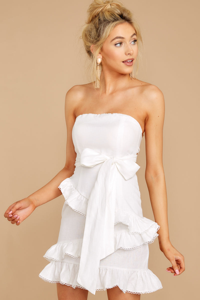 6 All Mine All The Time White Dress at reddressboutique.com