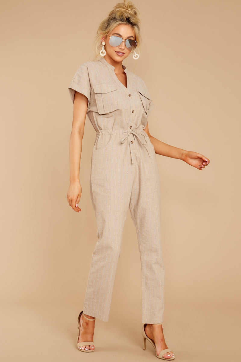 4 Don't Worry About This Taupe Jumpsuit at reddressboutique.com