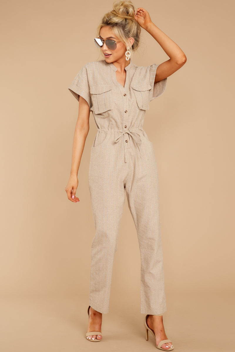 5 Don't Worry About This Taupe Jumpsuit at reddressboutique.com