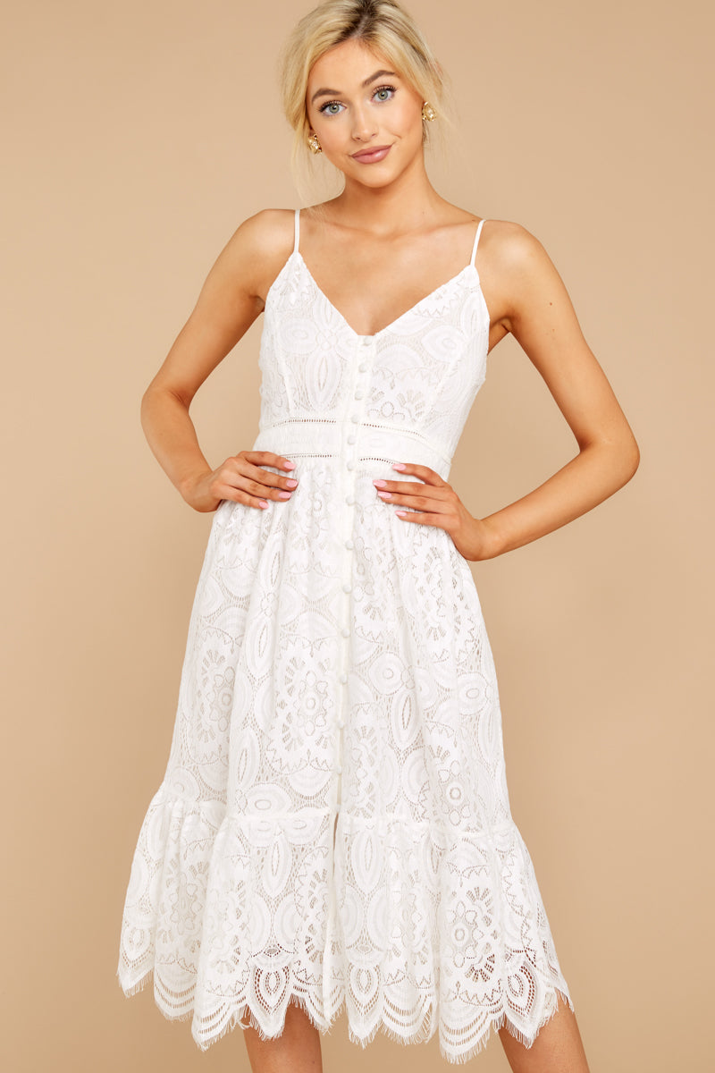 A Little Enchantment White Lace Dress at Red Dress.com