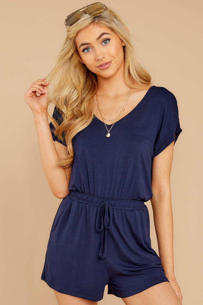 4 The Black Iris Blaire Sleek Jersey Romper at reddress.com