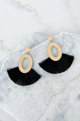 1 Someone Like You Black Earrings at reddressboutique.com