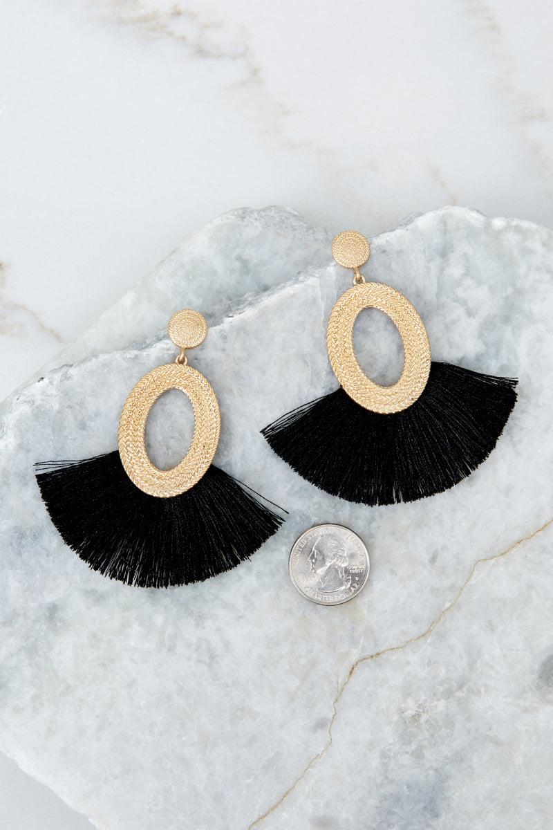 2 Someone Like You Black Earrings at reddressboutique.com