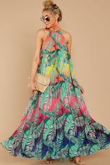 2 Mesmerized By You Multi Tropical Print Maxi Dress at reddressboutique.com