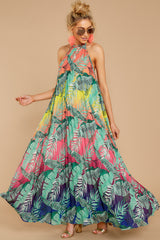 6 Mesmerized By You Multi Tropical Print Maxi Dress at reddressboutique.com