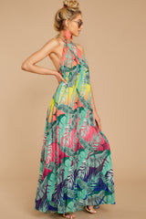 7 Mesmerized By You Multi Tropical Print Maxi Dress at reddressboutique.com