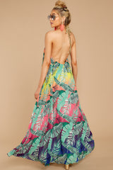 1 Mesmerized By You Multi Tropical Print Maxi Dress at reddressboutique.com