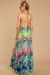 10 Mesmerized By You Multi Tropical Print Maxi Dress at reddressboutique.com