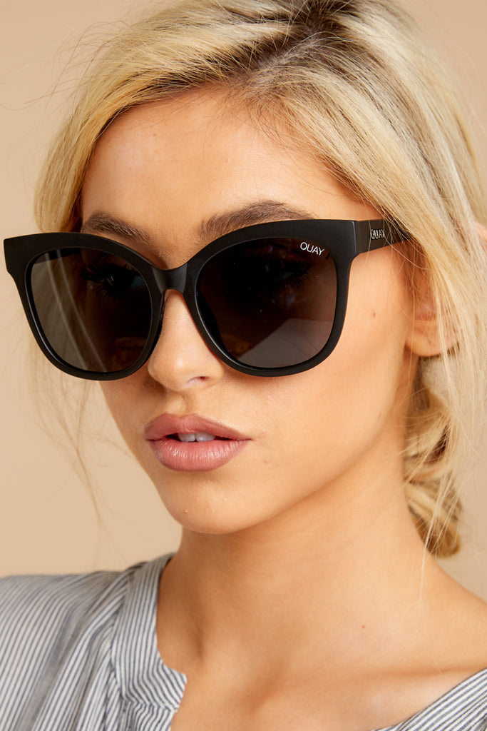 1 Noosa Black Smoke Sunglasses at reddressboutique.com