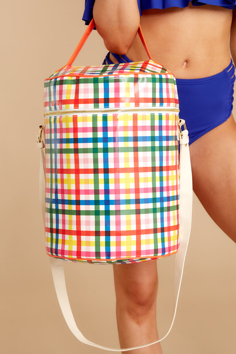 1 Super Chill Convertible Cooler Bag In Block Party at reddressboutique.com