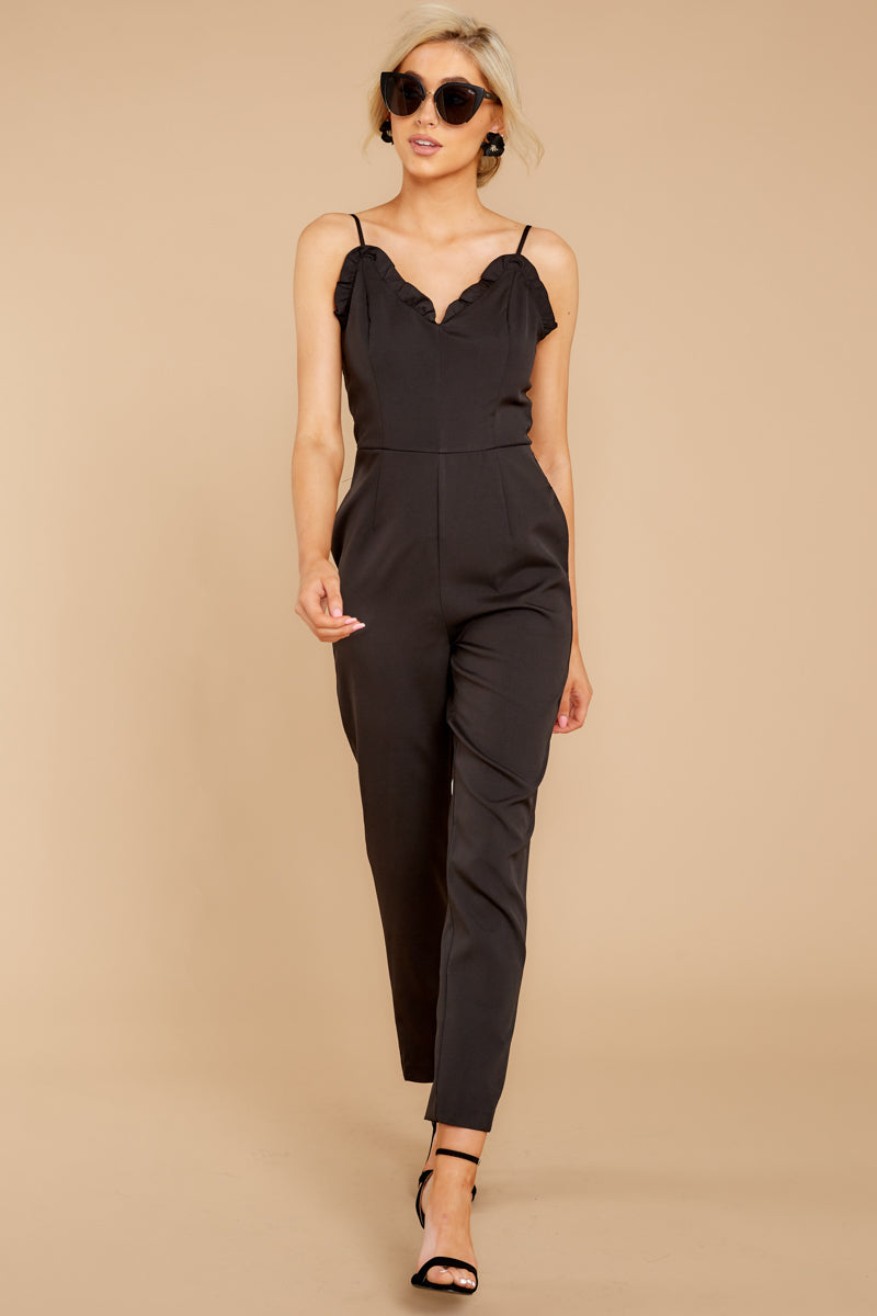 3 How We Roll Black Jumpsuit at reddressboutique.com