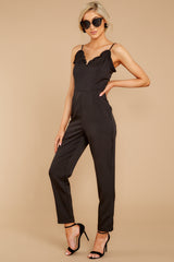 4 How We Roll Black Jumpsuit at reddressboutique.com