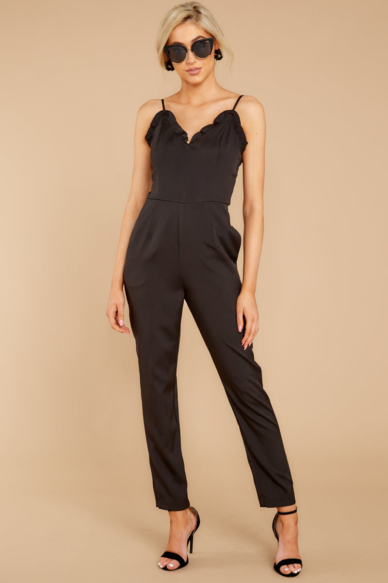 5 How We Roll Black Jumpsuit at reddressboutique.com