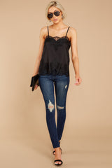 3 All Around Amazed Black Lace Tank Top at redress.com