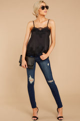 2 All Around Amazed Black Lace Tank Top at redress.com