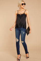 4 All Around Amazed Black Lace Tank Top at redress.com