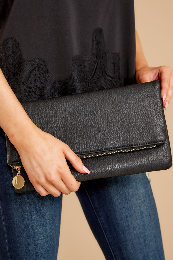 1 Leading Role Black Clutch at reddressboutique.com