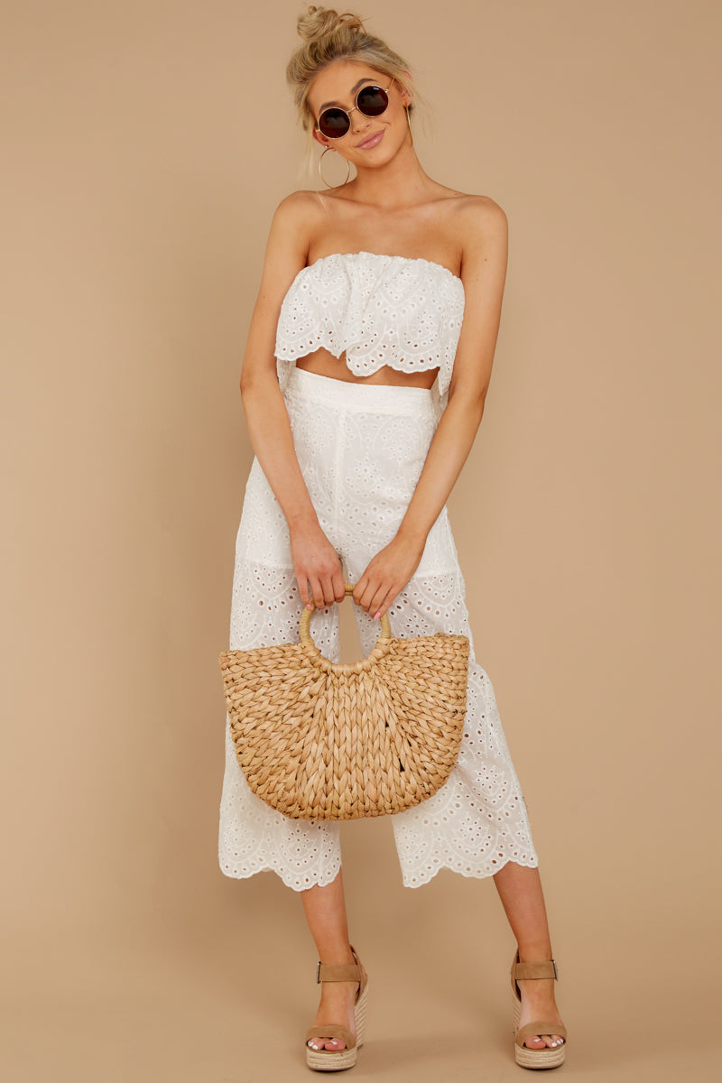 1 See Your Vision White Eyelet Two Piece Set at reddressboutique.com
