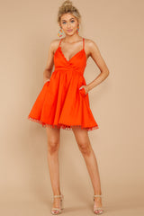 1 Steal A Kiss Orange Dress at reddressboutique.com