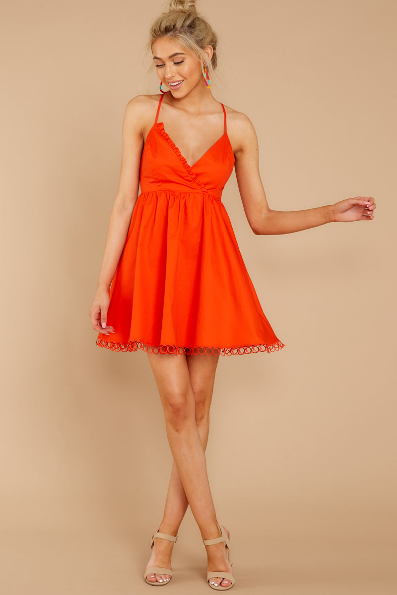 2 Steal A Kiss Orange Dress at reddressboutique.com