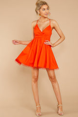 3 Steal A Kiss Orange Dress at reddressboutique.com
