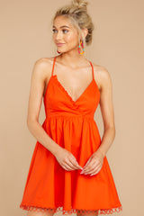 4 Steal A Kiss Orange Dress at reddressboutique.com