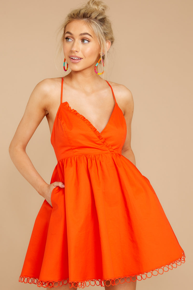 5 Steal A Kiss Orange Dress at reddressboutique.com