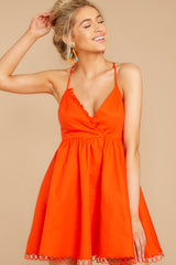 6 Steal A Kiss Orange Dress at reddressboutique.com