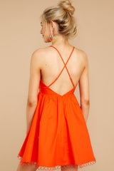 7 Steal A Kiss Orange Dress at reddressboutique.com