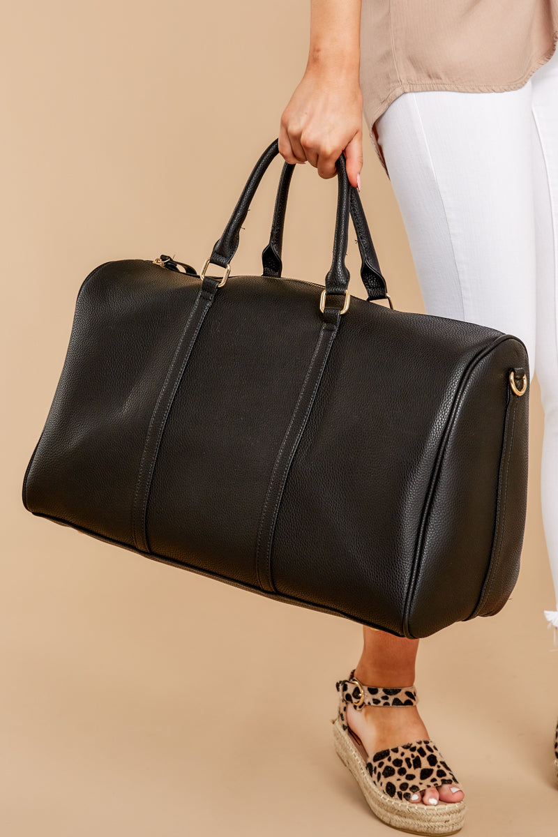 1 Quick To Leave Black Weekender Bag at reddress.com